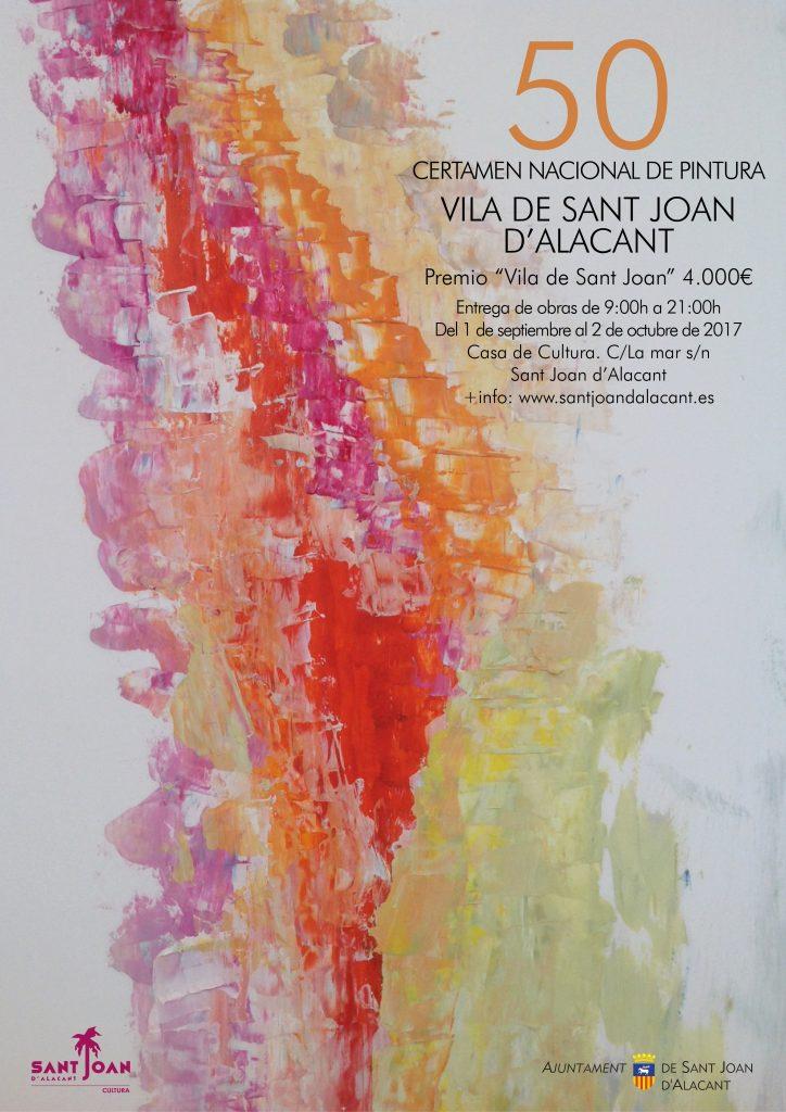 Cartel 50 Certamen de Pintura Villa Sant joan