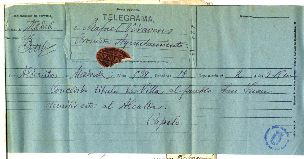 Telegrama Villa